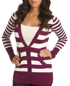 Wet Seal stripe cardigan