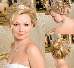 bridal updo hairstyles with tiara - Google Search