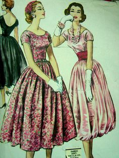 Vintage 50's McCall's Evening DRAPED Dress Pattern 4289  UNCUT size 18 bust 38 FF. $65.00, via Etsy.