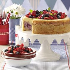 red white and blue cheesecake bars red white and blue cheesecake bars ...