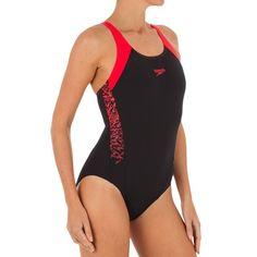 Decathlon Deportes Natación Natación, Aquagym y Waterpolo - BAÑADOR BOOM NEGRO ROJO  SPEEDO - Bañadores de Natación
