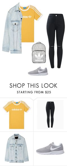 """Grey"" by alishabbarton on Polyvore featuring adidas, Alexander Wang, NIKE and Topshop"