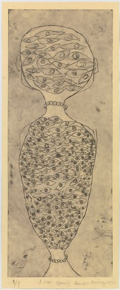 Louise Bourgeois (1911, France-2010, USA) - I See You!!, 2008, etching, 150.2x61.3 cm