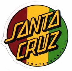 Santa Cruz Rasta Skateboard Sticker - skate board skating skateboarding sk8 new by Santa Cruz. $2.60. Brand new sticker made by the manufacturer - not an unofficial copy/reprint.  Approx 8.5cm wide