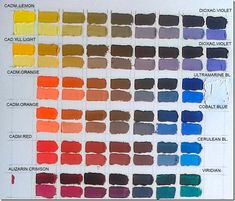 NEUTRALIZACION_COMPLEMENTS 2 Colours, Neutral Colors, Color Tones, Elly Smallwood, Oil Painting Tips, Cold Porcelain, Color Theory, Reborn, Color Mixing