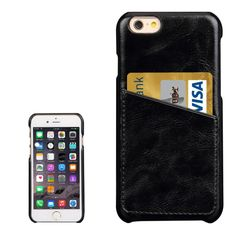 [USD4.00] [EUR3.70] [GBP2.86] Fashionable Crazy Horse Texture Leather Back Cover with Card Slots for iPhone 6 Plus& 6s Plus(Black)