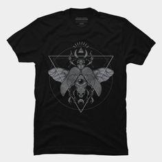 Illuminati scarab t-shirt.