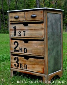 Paint numbers onto your dresser drawers for instant charm. Or, try letters or symbols if numbers aren't your thing.