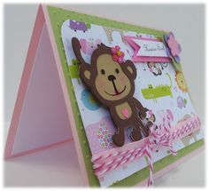 Monkey baby shower card
