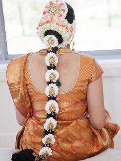 Souyh indian bridal hairstyle
