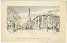 """""""Old City Hall Eleventh and Capital Streets, Richmond, Virginia 1862"""" by Elmo Jones. Visual Studies Collection, Manuscripts and Special Collections"""