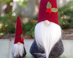 Christmas Gnome SET, Mini and Large Gnome,Nordic, Christmas Gift, Gnomes, Gifts for Her, Birthday, Tomte, Nisse, Tomten, Christmas Decor