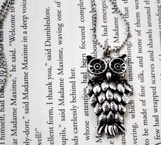 Owl Necklace by KellyStahley. On Etsy for $22
