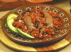 Bistec en salsa de chipotle.