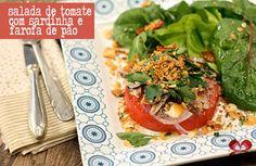 Salada de inverno: Tomate, sardinha e farofinha de pão