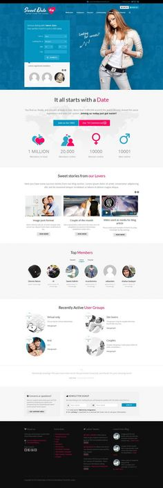 Sweet Date – Premium WordPress Dating Theme
