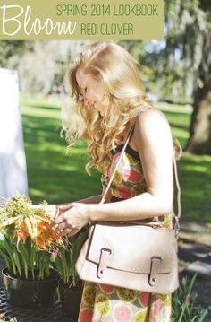 Shopping at the Forsyth Farmers Market in a cute Spring dress! #savannahga #dress red clover spring 2014 lookbook