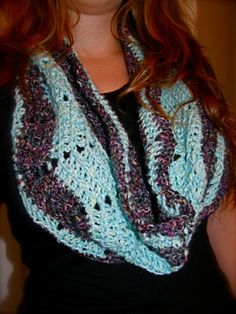 Warm Striped Handmade Crochet Cowl by FunHandmadeCrochet on Etsy, $15.00
