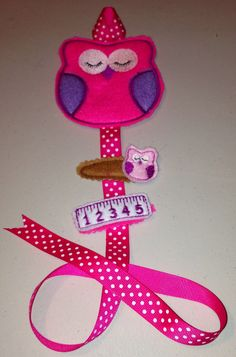 Owl Felt Clippie Holder plus clips