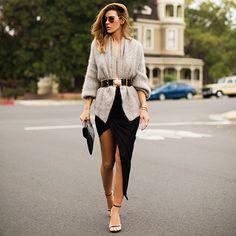"""Blog da luísa: Chiquérrima!! Olá Fashionistas, Hoje trago um look chiquérrimo, da blogueira """"Native Fox"""" que tenho me inspirado ultimamente. Este look é bastante chique e elegante, e fica bem às magrinhas (as mais cheinhas me desculpem)."""