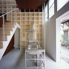 建築 デザイン | 傑作の狭小住宅20 | 本棚の中に住む/建築面積:7.5坪 | For M