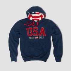 #NothSails #Fall #Winter #2013 #2014 #Man #Hooded #Sweatshirt #Cotton #USA #Flag #Print Usa Flag, Men's Collection, Hooded Sweatshirts, Hoods, Sportswear, Fall Winter, Graphic Sweatshirt, Sweaters, Cotton