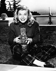Doris Day behind the camera in 1953.
