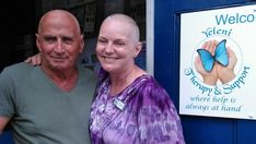 TO show solidarity to the many men and women who lose their hair due to cancer treatment, a charity founder and her partner had their heads shaved. Hair Due, Many Men, Shaved Head, Cancer Treatment, Shaving, Charity, Tie Dye, Women, Fashion