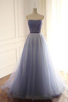 A-Line/Princess Tulle Sweetheart Floor-Length Prom Dresses,PL5146 on Luulla
