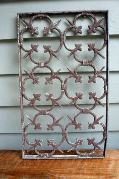 Vintage Architectural Salvage Metal Grate by LunaParkVintage Architectural Antiques, Architectural Elements, Shabby Vintage, Vintage Love, Amazing Architecture, Architecture Details, Metal Arch, Iron Furniture, Iron Art