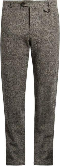 Mens Wool Trousers, Wool Pants, Groomsmen Outfits, Groom And Groomsmen Attire, Mens Fashion Wear, Fashion Moda, Oliver Spencer, Mens Dress Pants, Men's Pants