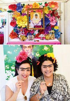 Vibrant & Festive Frida Kahlo Inspired Mexican Party- Festa inspirada em Frida Kahlo. ( Lindo mural de flores coloridas)