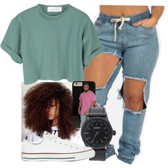 Untitled #163 by khanyajane on Polyvore featuring polyvore, fashion, style, Converse, Nixon and clothing