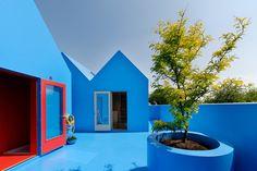 Contemporary Deck Didden Village, MVRDV Back Gardens, Outdoor Gardens, Outdoor Retreat, Outdoor Decor, Desert Backyard, Paint Your House, Urban Planning, Rotterdam, House Painting