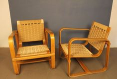 Armchairs by Giuseppe Pagano Pogatschnig & Gino Maggioni, 1939, Set of 2 for sale at Pamono Outdoor Chairs, Outdoor Furniture, Outdoor Decor, Design Show, Armchairs, Vintage Designs, Crates, Restoration, Upholstery