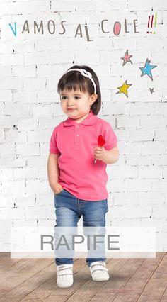 Polo infantil en varios colores, muy adecuado para ir al cole también. Face, Role Models, Sweat Pants, Comfortable Clothes, Full Sleeves, T Shirts, Colors, The Face, Faces