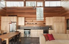 Best Tiny House Kitchen Design Ideas That Feel Like Plenty of Space. Small House Interior Design, Wood Interior Design, Modern Interior Design, House Design, Interior Ideas, Wall Design, Interior Decorating, Cabin Kitchens, Wooden Kitchens