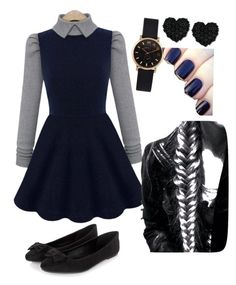 """""""Private school uniform"""" by marianacolincom ❤ liked on Polyvore featuring Marc by Marc Jacobs, Betsey Johnson and Disturbia"""