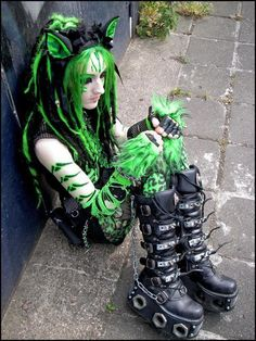 Green-eared Cybergoth