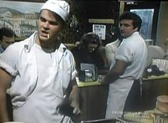 """One of the best SNL sketches ever!The Diner sketch: """"Cheeseburger,cheeseburger,cheeseburger! No Coke,Pepsi! Snl Saturday Night Live, Good Saturday, Old Tv Shows, Movies And Tv Shows, Best Of Snl, Snl Skits, The Blues Brothers, I Love Nyc, Prime Time"""