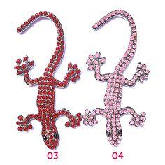 Multiple Styles Cool Gecko Design Zinc Alloy 3D Car Decal