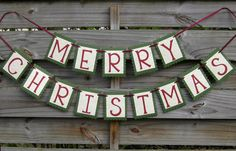 Merry Christmas Banner. $28.00, via Etsy.