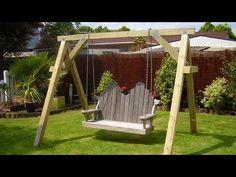 a frame swing set plans pdf - Woodworking Challenge A Frame Swing Set, Porch Swing Frame, Garden Swing Seat, Diy Swing, Bench Swing, Lawn Swing, Wooden Garden Swing, Swing Sets, Garden Chairs