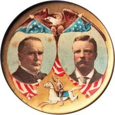 William McKinley Political buttons and Pins from the McKinley-Teddy Roosevelt 1900 Campaign Page 2 of 2