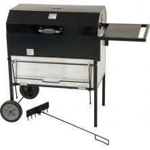 Bayou Classic 31-Inch Aluminized Steel Charcoal Roast Box Grill With Lid - 500-784