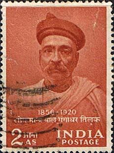 India 1956 Birth Centenary of Tilak Fine Used                    SG 374 Scott 274      Other Asian and British Commonwealth Stamps HERE!