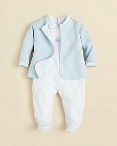 Kissy Kissy Infant Boys' Jacquard Footie & Jacket Set - Sizes Newborn-9 Months | Bloomingdale's