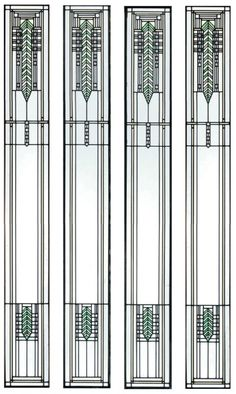 Stained glass window, by Frank Lloyd Wright.
