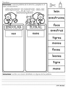 "Centros de aprendizaje en español ""PARA LLEVAR"" - Singular Spanish Worksheets, Spanish Activities, Kids Learning Activities, Bilingual Classroom, Bilingual Education, Spanish Classroom, Spanish Language Learning, Teaching Spanish, Kindergarten Homework"