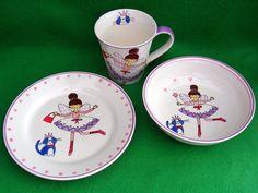 Whittard of Chelsea Handpainted Fairy Princess Cat Trio Mug Bowl Teaplate in Pottery, Porcelain & Glass, Porcelain/China, Other Porcelain/China | eBay